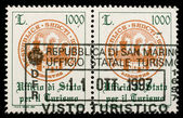San Marino Customs stamp — Stock Photo