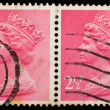 Vintage UK postage stamp — Stock Photo