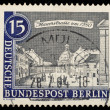 Vintage West Berlin stamp — Stock Photo