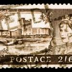 Vintage UK postage stamp — Stock Photo