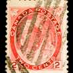 Vintage Canadian Postage Stamp — Stock Photo