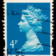 Queen Elizabeth II Postage Stamp - Stock Photo