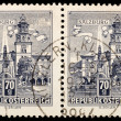 Old Austrian stamps - Stock Photo