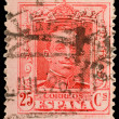 Vintage spanish postage stamp — Stock Photo