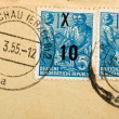 Vintage German postage stamps — Stock Photo