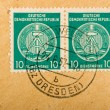 Vintage German postage stamps - 图库照片