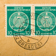 Vintage German postage stamps - Stock fotografie