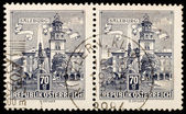 Old Austrian stamps — Stock Photo