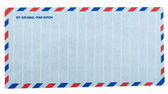 Airmail letter envelope — Stock Photo