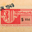 Royalty-Free Stock Photo: Vintage German special stamp