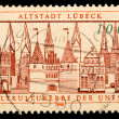 Vintage German postage stamp - Stock Photo
