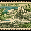 Vintage French postage stamp - Stock Photo