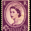 Stock Photo: Queen Elizabeth II Postage Stamp