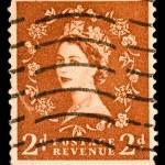 Queen Elizabeth II Postage Stamp — Stock Photo