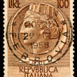 Vintage Italy Postage Stamp - Stock Photo