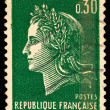 Vintage French postage stamp — Stock Photo
