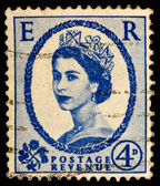 Queen Elizabeth II Postage Stamp — Stock Photo
