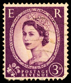 Queen Elizabeth II Postage Stamp — Photo