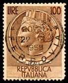 Vintage Italy Postage Stamp — Stock Photo
