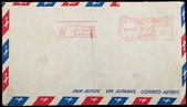Vintage Airmail letter envelope — Stock Photo