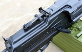 Russian Army machine gun closeup — Stock Photo