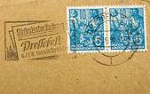 Sztuka niemieckich znaczków — Zdjęcie stockowe