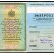 Old British Passport — Stock Photo
