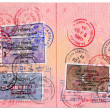 Royalty-Free Stock Photo: Passport stamps