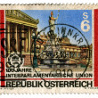 Vintage Austria postage stamp — Stock Photo