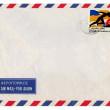 Vintage airmail envelope — Stock Photo