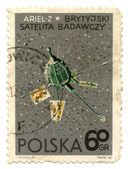 Vintage Poland postage stamp — Stock Photo