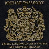 Fragment of Old British Passport — Stock Photo