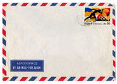Vintage airmail envelope — Photo