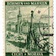 Old Czech Republic postage stamps - Stock Photo