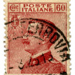 图库照片: Old Italipostage stamp