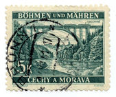 Old Czech Republic postage stamps — Stock Photo