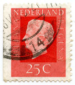 Vintage Nederlands postage stamp — Stock Photo