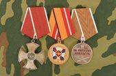 Russische medailles — Stockfoto