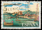 Spanish vintage postage stamp — Stock Photo