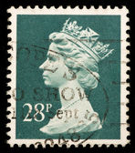 Vintage UK postage stamp — Stockfoto
