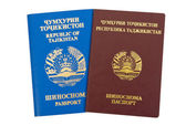 Tajikistan passports — Stock Photo