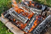 Ogień w kominku — Zdjęcie stockowe