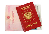 Russian passport on white background — Stock Photo