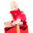 Royalty-Free Stock Photo: Little christmas baby-girl
