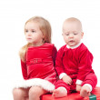 Christmas babies — Stock Photo