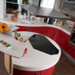 Red modern kitchen — Stock Photo #1080081