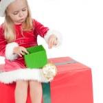 Christmas toddler — Stock Photo