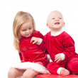 Stock Photo: Christmas babies