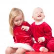 bebés de Navidad — Foto de Stock