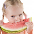 Girl eating watermelon — Stock Photo #1127233
